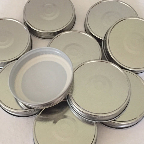 Silver Mason Jar Lids. Perfect for Hot Fill Canning!