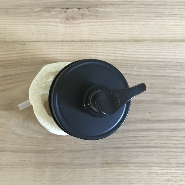 Matte Black Mason Jar Soap Dispenser Pump Lids