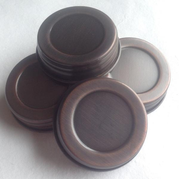 4 Mason Jar Replacement Lids - Classic Copper