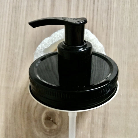 1 All Black Mason Jar Soap Dispenser Pump Lid