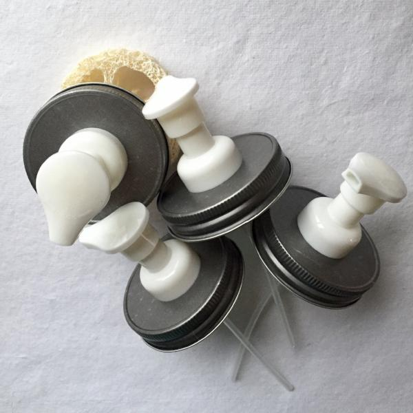 10 Pack :  Foamers :  Antique Pewter & White