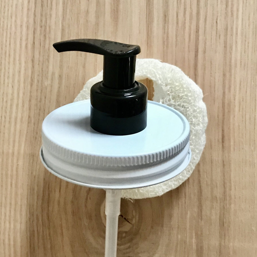 White & Black Mason Jar Soap Dispenser Pump Lids