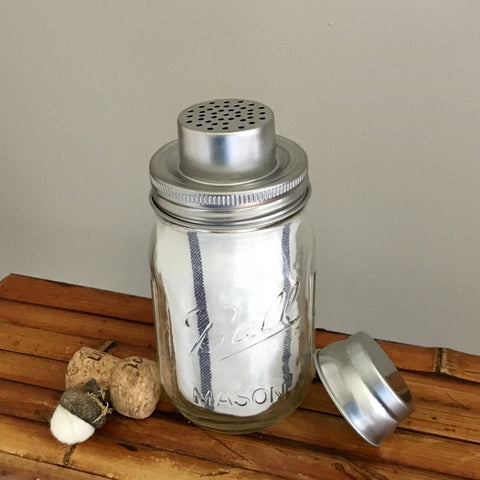 Mason Jar Cocktail Shaker with Bar Towel