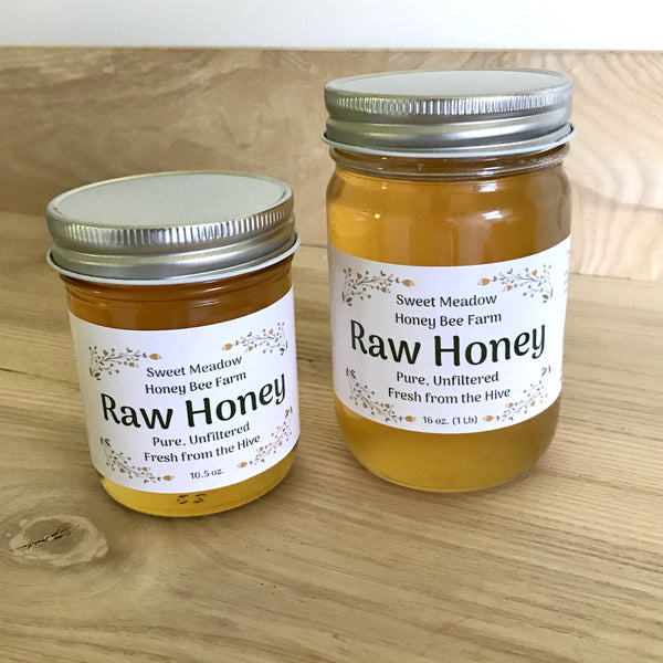 Raw Honey - Large 1 Pound Jar
