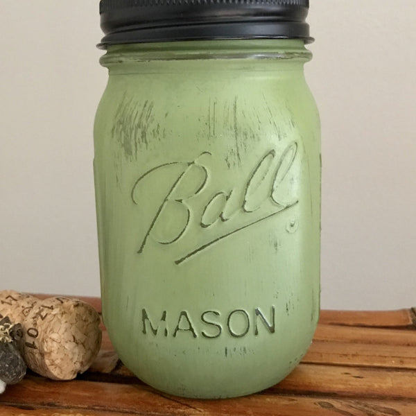 Pine Green Ball Mason Jar Soap Dispenser - Your Choice of Lid Color