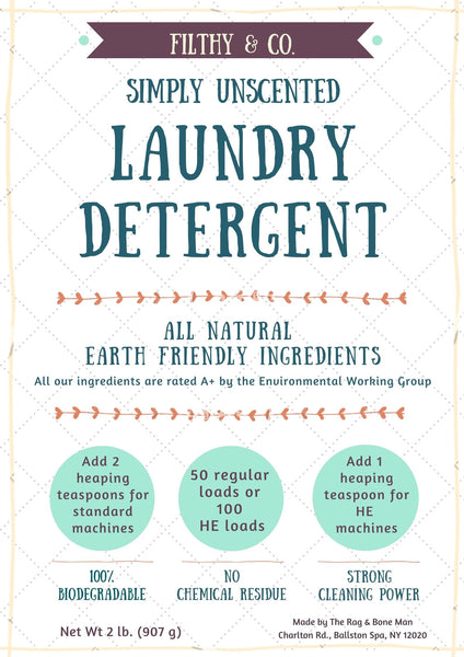 Filthy & Co. Laundry Detergent - Wholesale Case of 6