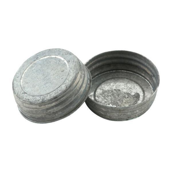 2 Pack Galvanized Old School Style Mason Jar Lids