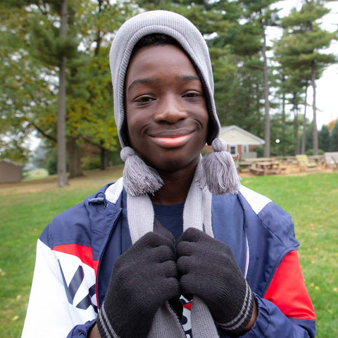 Pictured is Anthony, who loves the cold!