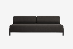 Palo 2-Seater Sofa Black-Brown
