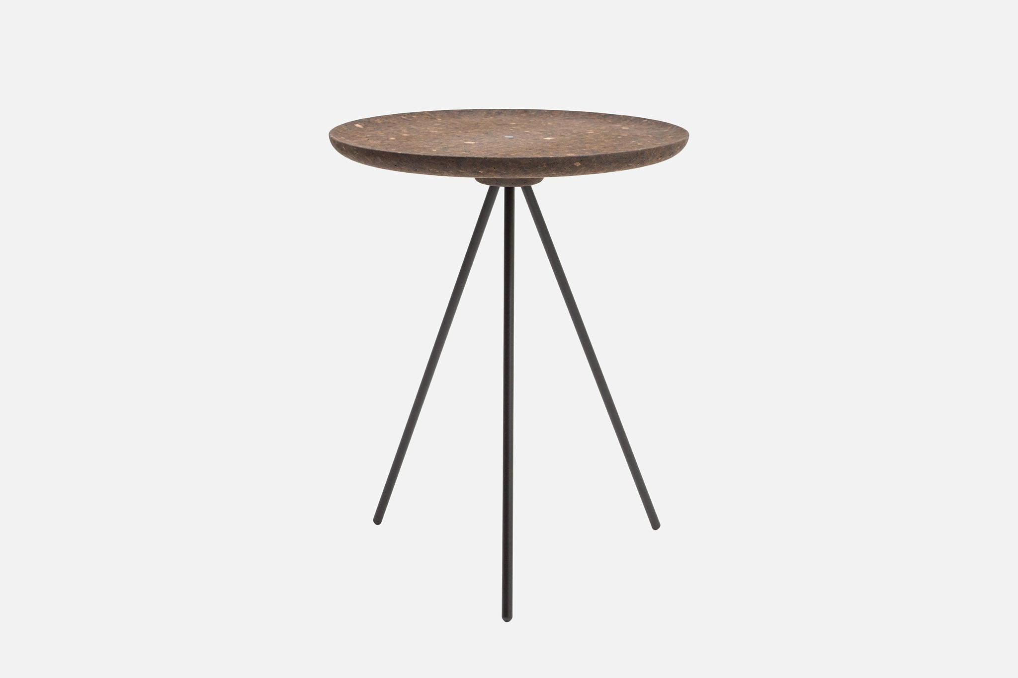 ... Key Side Table Dark Cork Black