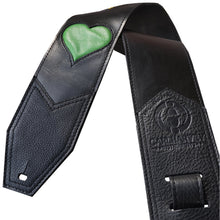 """One Love"" Premium Leather Guitar Strap by Heavy Leather NYC"