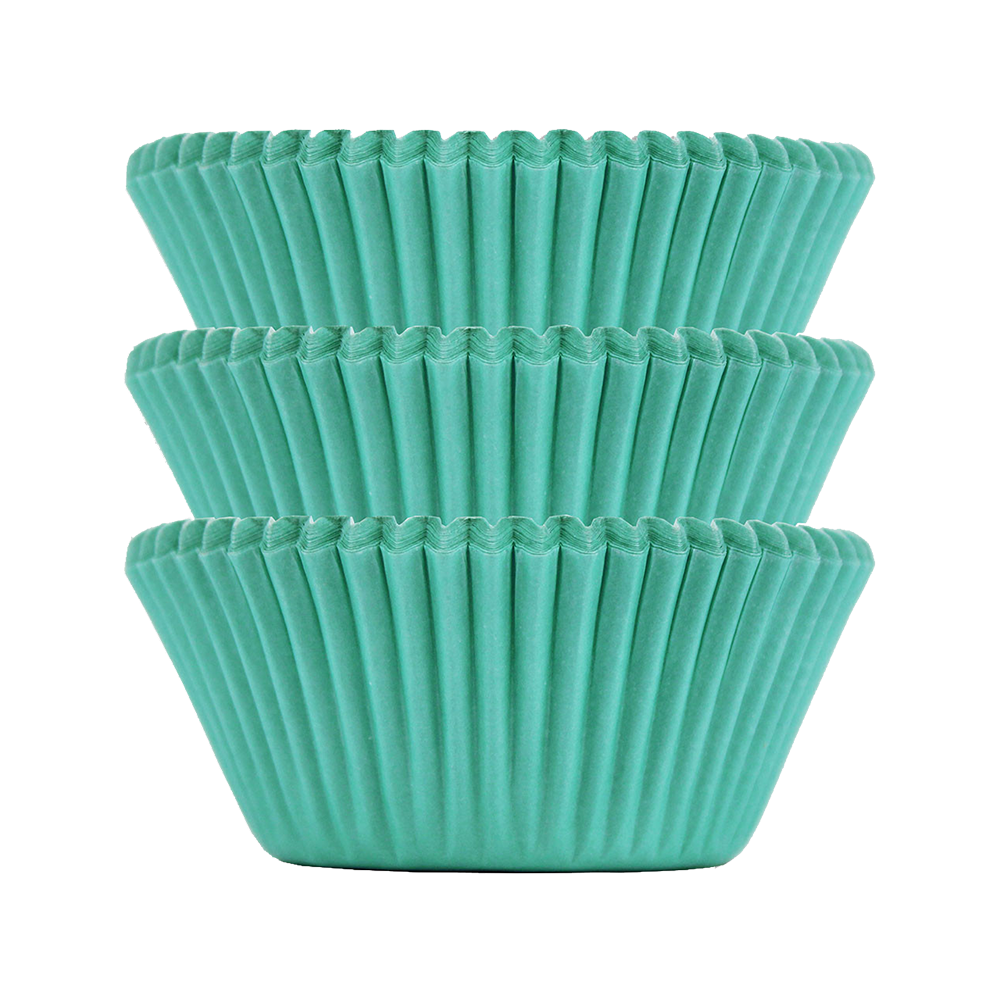Aqua Plain Baking Cups