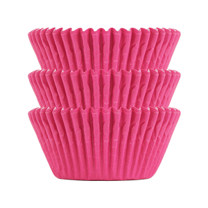 Electric Pink Plain Baking Cups