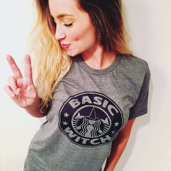 Basic Witch T-Shirt, Funny Starbucks Halloween Tee Shirt for Pumpkin Spice Coffee Lover