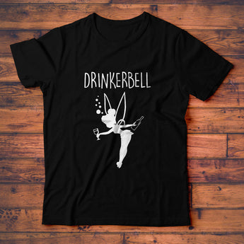 Drinkerbell T-Shirt, Cute Funny Drinking Tinkerbell Tee Shirt