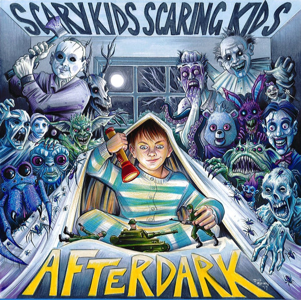 Scary Kids Scaring Kids - After Dark (Flashlight Yellow/Night Blue Split with Splatter /200)
