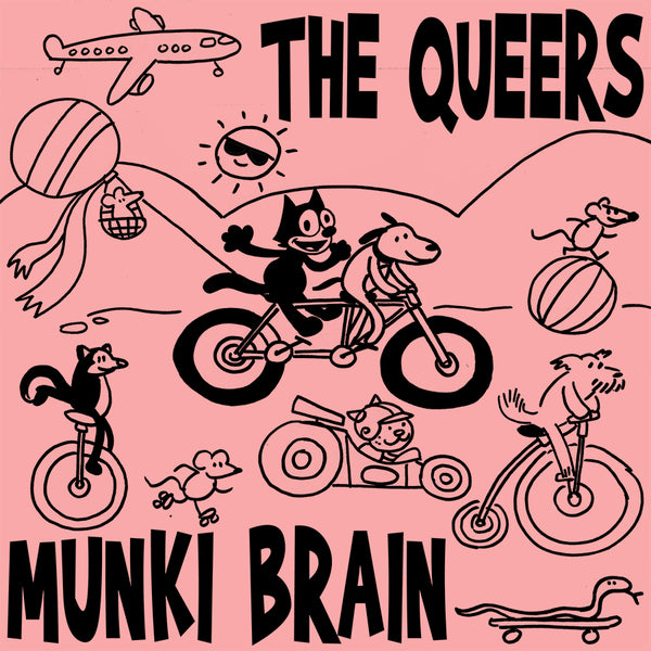 The Queers - Munki Brain (silk screened / hand numbered /300)
