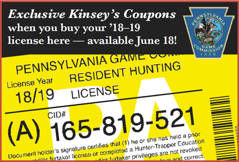 Hunting License 2018/2019 Season – Kinsey's Outdoors