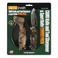 AccuSharp Sharpener & Sport Knife Combo Camo