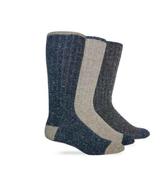 Wise Blend Men's Marl Large Boot Denim Socks