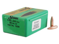 Sierra Gameking Bullet 6mm/243 Caliber (.243 Diameter) 85 Grain SBT 100 Pack