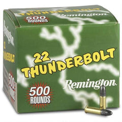 Remington Thunderbolt .22 LR 40 Grain LRN 500 Rounds