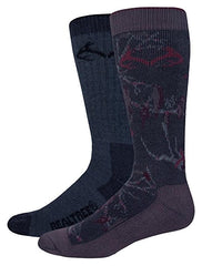 Realtree Men's Camo Wool Blend Socks 2 Pack