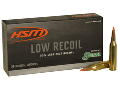 HSM Low Recoil .308 Win 150 Grain Sierra SBT 20 Rounds