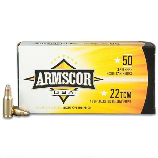 Armscor Precision .22 TCM 40 Grain JHP 50 Rounds