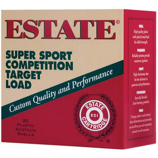 Estate Super Sport Target Load 20ga 7.5 Shot 250 Rounds