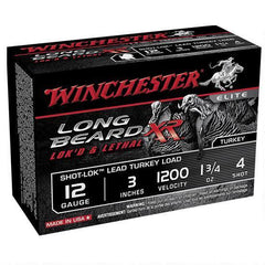 "Winchester Long Beard Lok's & Lethal XR 12 Ga 3"" 4 Shot 1 3/4oz 10 Rounds"