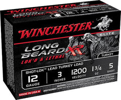 "Winchester Long Beard Lok's & Lethal XR 12 Ga 3"" 5 Shot 1 3/4oz 10 Rounds"