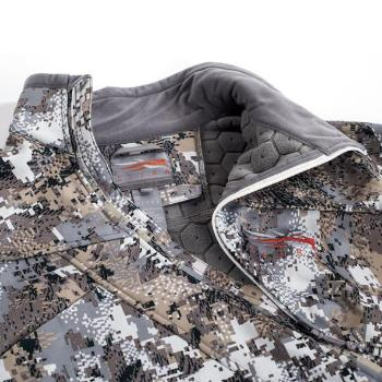A Sitka Fanatic Lite Jacket Opidfade Elevated II Zip View