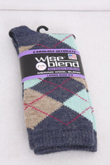 Wise Blend Women's Argyle Crew Socks