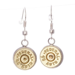2 Monkey Lucky Shot Bullet Dangle Earrings