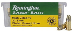 Remington Golden Bullet .22 Short PLRN 30 Grain 100 Rounds