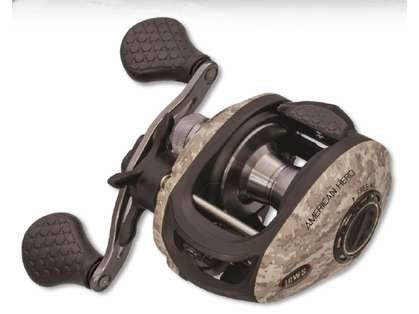 Lew's American Hero Camo Speed Spool Left Handed Baitcast Reel