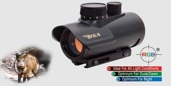 BSA 42mm Huntsman Illuminated RGB Red Dot Sight