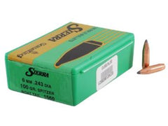 Sierra Gameking Bullet 6mm/.243 Caliber (.243 Diameter) 100 Grain SBT 100 Pack