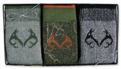 Realtree Men's Socks Gift Box 3 Pack
