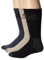 Realtree Men's Casual Crew Socks 3 Pack