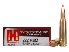 Hornady Superformance .222 Remington 50 Grain V-Max 20 Rounds