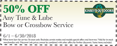 50% OFF Any Tune & Lube Bow or Crossbow Service