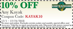 Save 10% on all Kayaks!