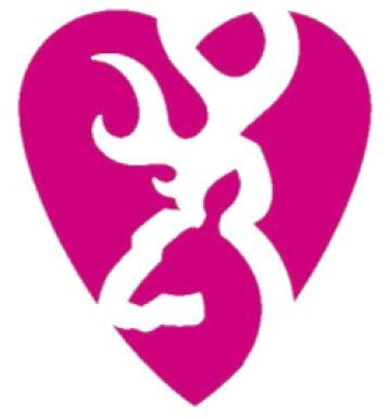 Browning Heartbreaker Pink and White Decal