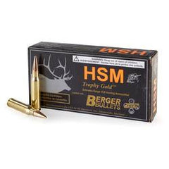 HSM Trophy Gold .30-06 Springfield 168 Grain Berger Match Hunting VLD 20 Rounds