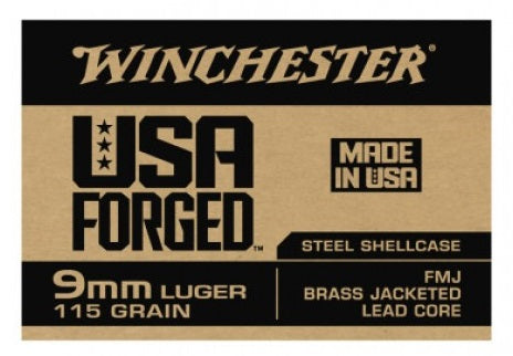 Winchester USA Forged 9mm 115 Grain FMJ 50 Rounds