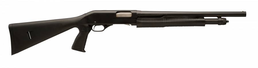 Stevens 320 Security Black Pump-Action Shotgun with Pistol Grip
