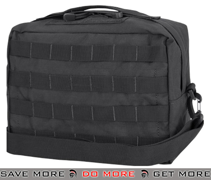 Condor Black MOLLE Large Utility Shoulder Bag / Fanny Pouch Black Pouches- ModernAirsoft.com