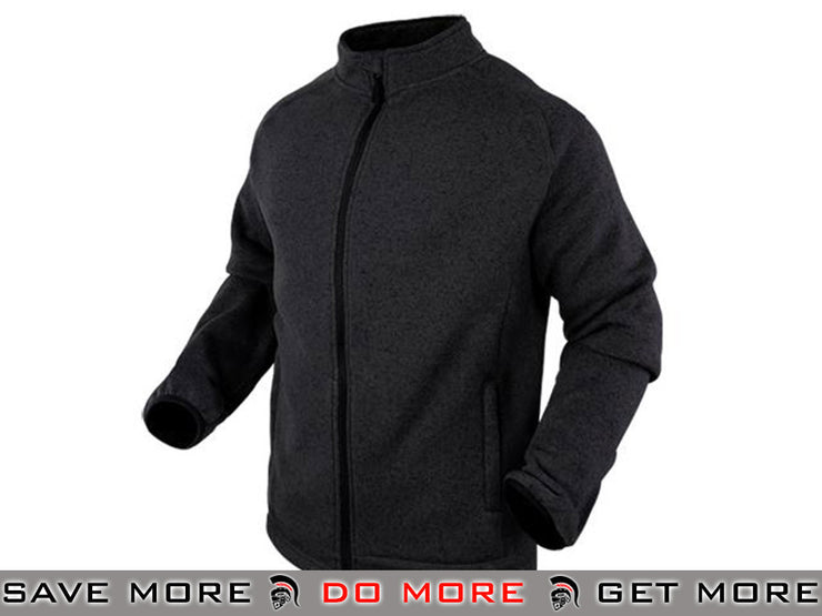 Condor Large Black Matterhorn Tactical Fleece Jacket Jackets / Sweaters / Hoodies- ModernAirsoft.com